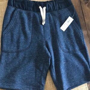 Boys Navy Fleece Lined Shorts
